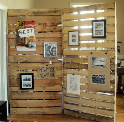 diy room divider wood pallet