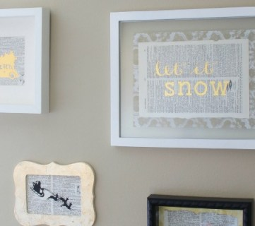 4 Easy DIY Gold Prints for a Christmas Gallery Wall; Day 6