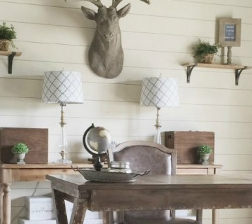 office wainscoting ideas. How To Install A Shiplap Wall + Rustic Home Office Makeover Wainscoting Ideas