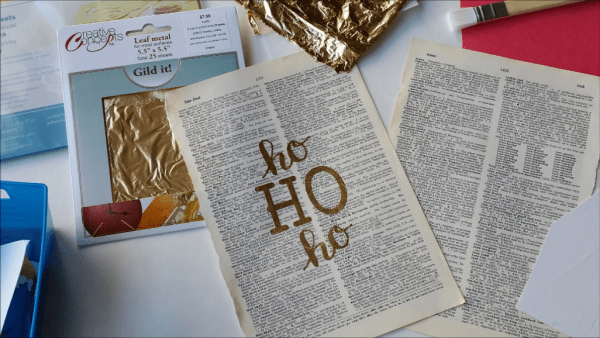 DIY gold leaf print supplies. I had no idea it could be so easy!