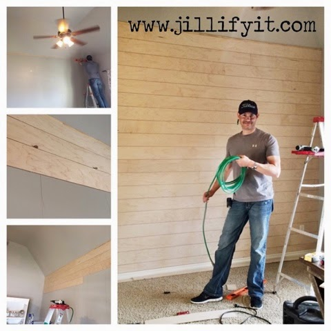 how to install a DIY shiplap wall, Jillify It on @Remodelaholic