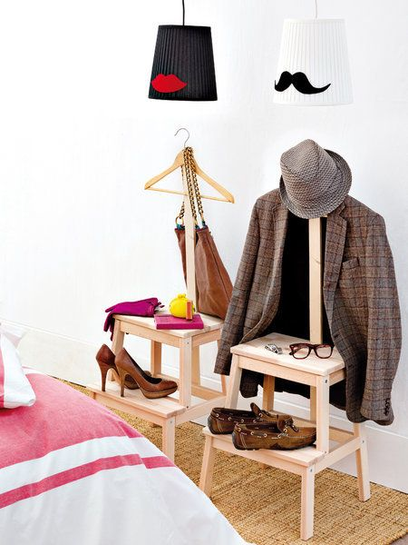 ikea bekvam stool hack, clothes stand or valet stand
