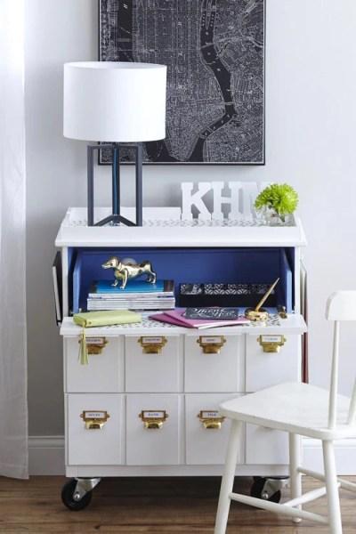 ikea tarva three-drawer chest hack desk