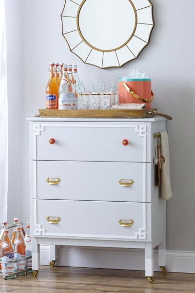 ikea tarva three-drawer chest hack overlays bar station casters