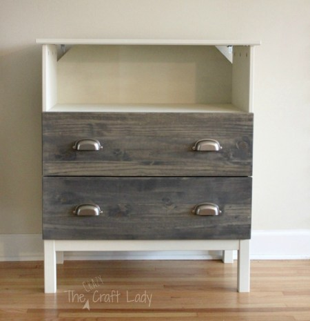 ikea tarva three-drawer chest hack tv stand