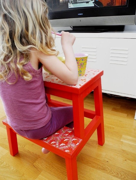 Awesome Remodelaholic 12 Ikea Bekvam Step Stool Hacks Squirreltailoven Fun Painted Chair Ideas Images Squirreltailovenorg