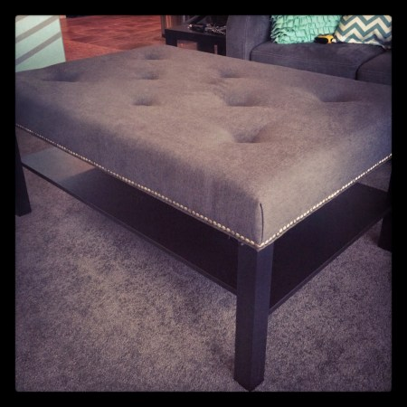 lack coffee table hack tufted ottoman