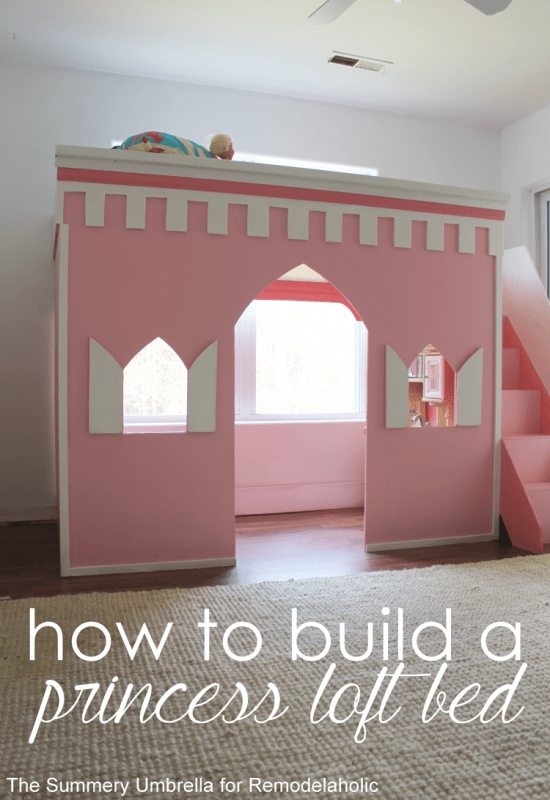 Gorgeous! Castle loft bed, diy tutorial
