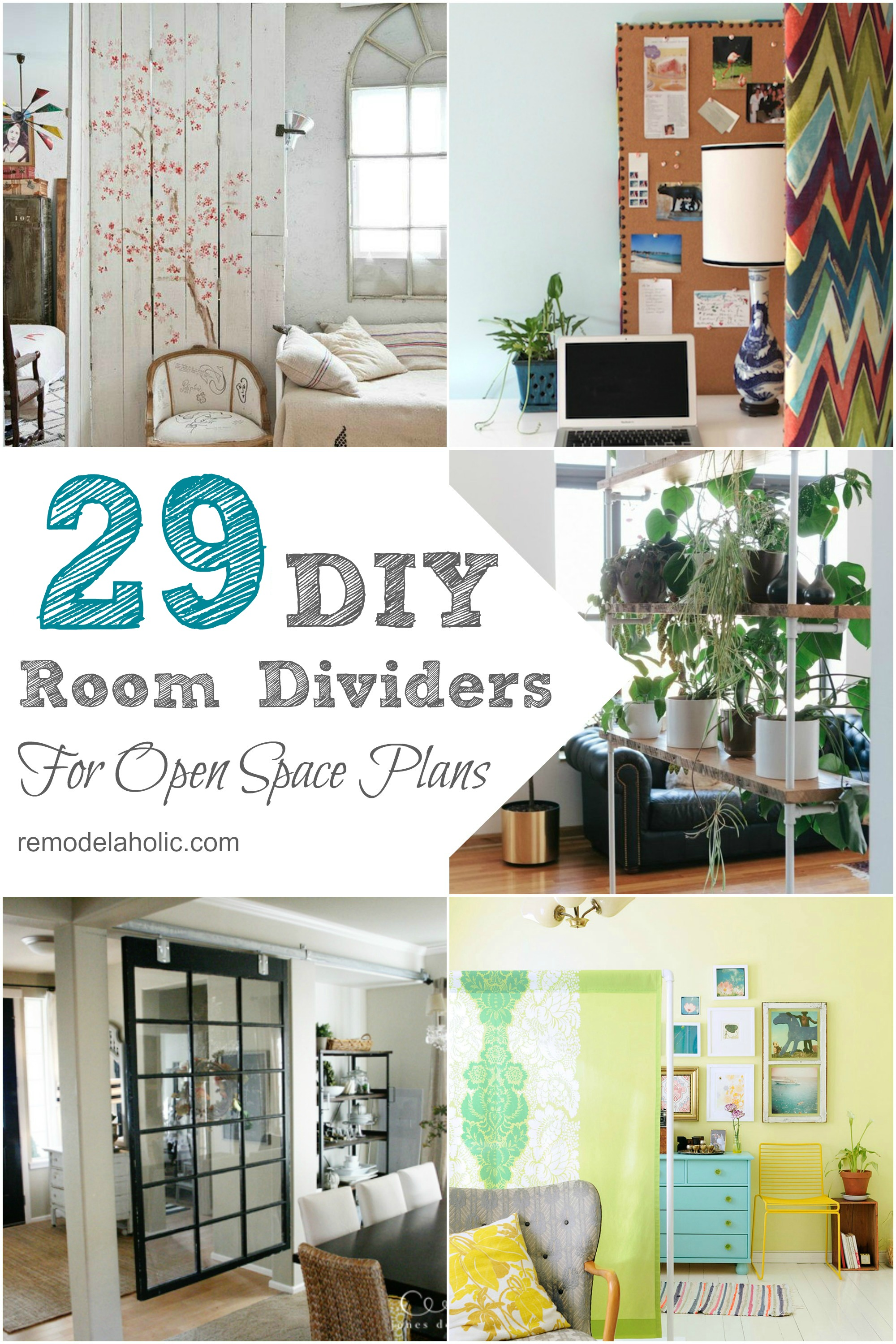 Remodelaholic 29 Creative Diy Room Dividers For Open Space