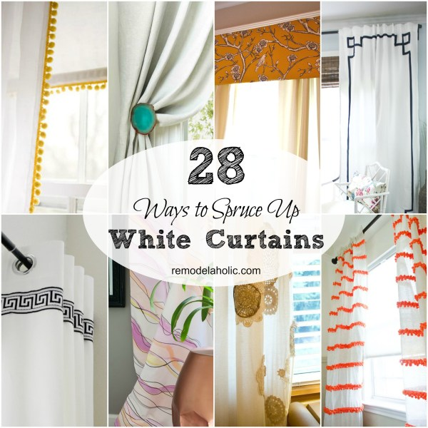 White curtains can be calming and beautiful... or they can feel bland. If you're looking to spice up plain curtains, try these ideas!