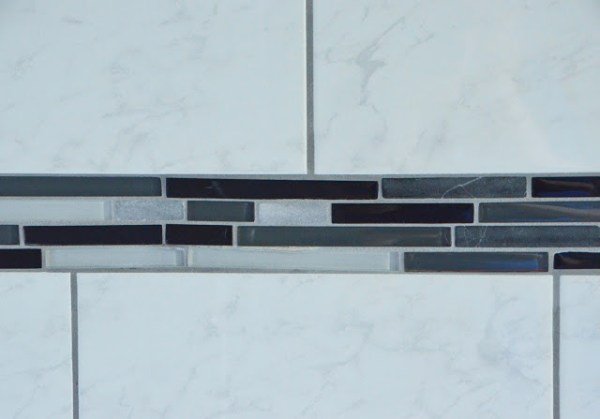 Master Bathroom Renovation, dark and light gray shower tile, by Since I Became a Mom featured on @Remodelohic