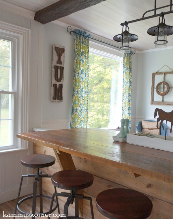 19 Dining room, sun room renovation using old barn wood from historic mansion estate, by Kammy's Korner featured on @Remodelaholic