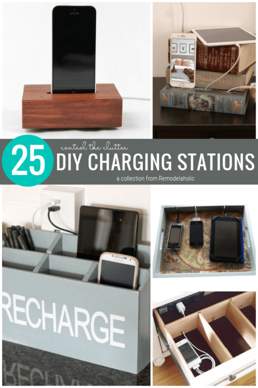 DIY Charging Station Ideas To Control The Clutter In Your Home, A Collection From Remodelaholic