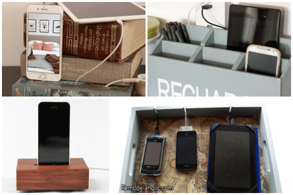 DIY Charging Station Ideas To Keep Cords Organized On Remodelaholic