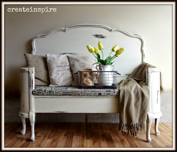 25 DIY Headboard Benches via remodelaholic.com #diy #benches #headboard #headboards #headboardbench #headboardbenches
