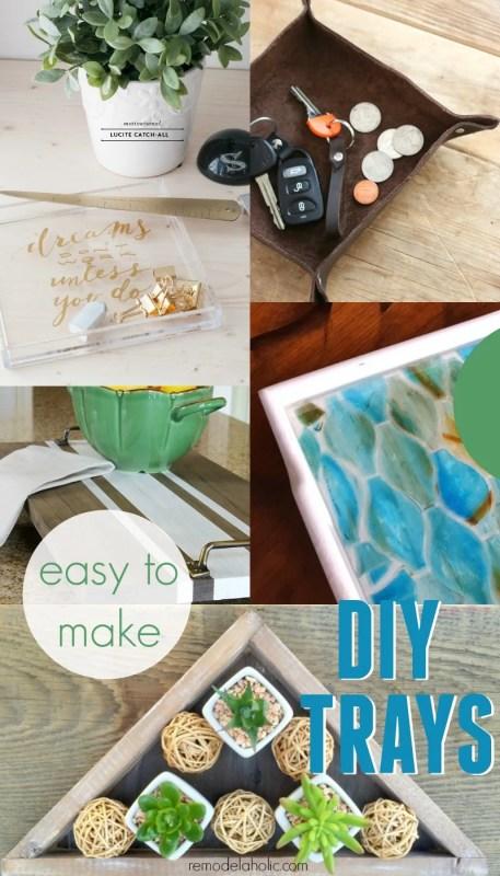Easy DIY Tray Tutorials @Remodelaholic