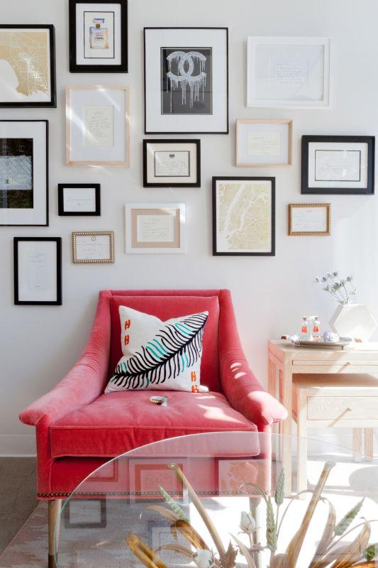 Homepolish Stefan Stein - Anthroplogie chair with gallery wall