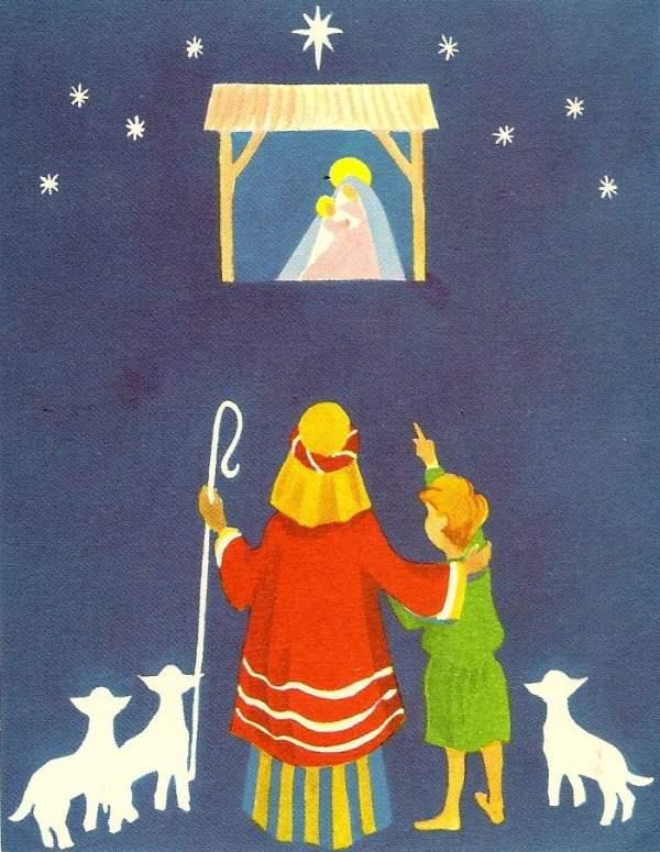 vintage nativity printable image