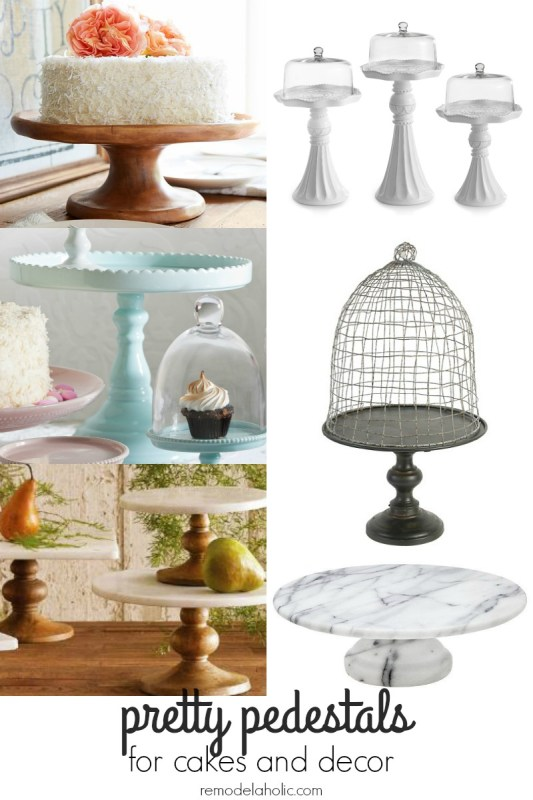 Pretty Cake Pedestals. One of each, please! @Remodelaholic
