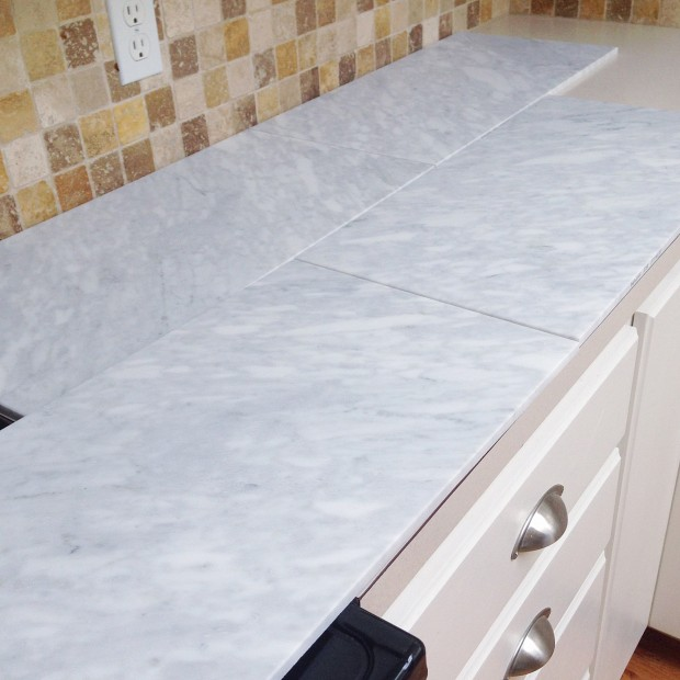 tiled diy marble countertops