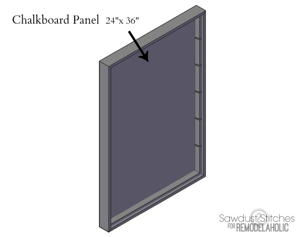 chalkboard organizer panel by sawdust2stitches for remodelaholic.com