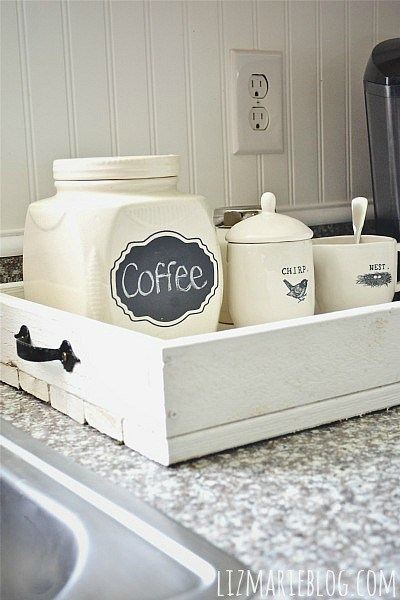 countertop tray for coffee or other ktichen items Liz Marie Blog