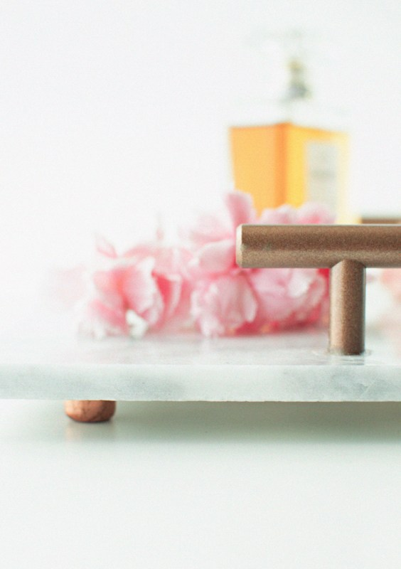 easy diy marble tray with handles and feet Pennies for a Fortune