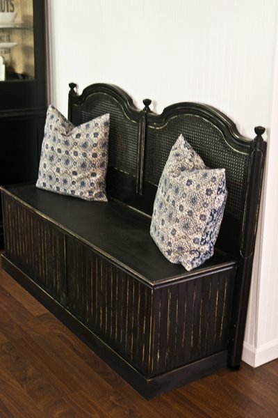 headboard bench from 2 headboards The Lettered Cottage