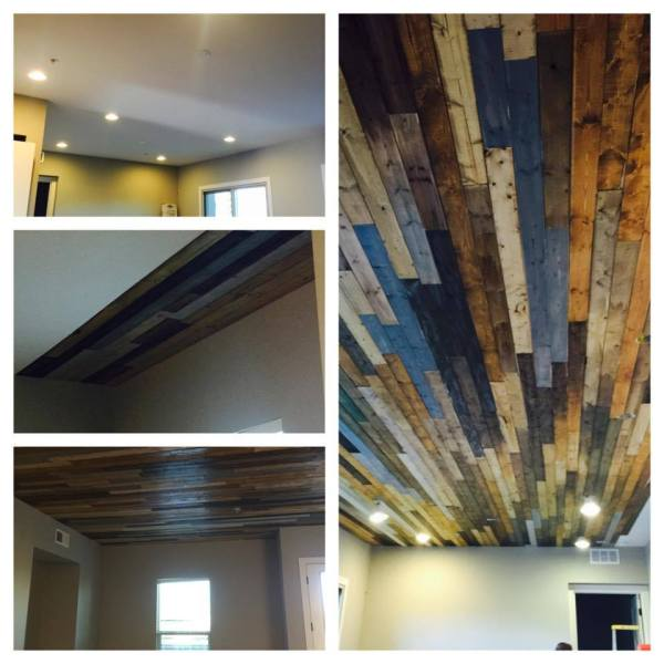 how to use v-groove paneling to make a beautiful rustic ceiling, by Michelle on @Remodelaholic