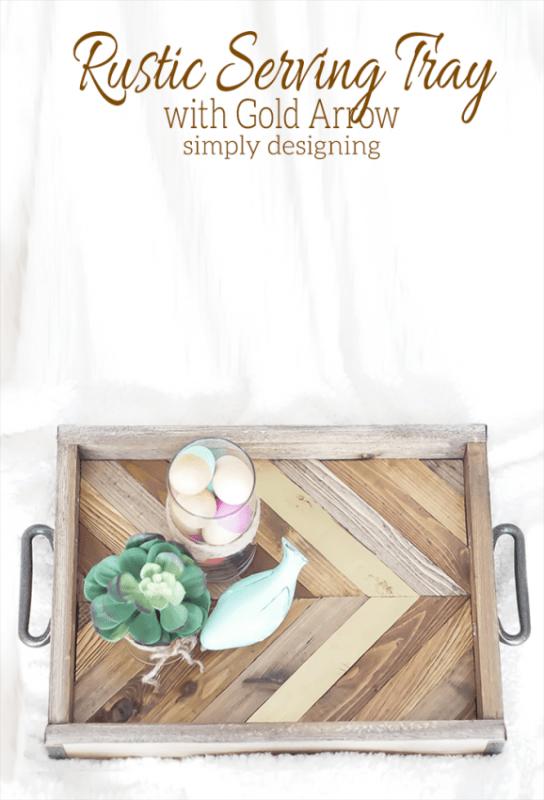 rustic wood tray diy Simply Designing