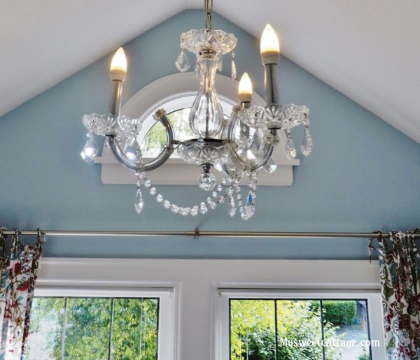 14 Crystal chandelier to add vintage feel to old home remodel, Lowe's Home Improvement, My Sweet Cottage featured on @Remodelaholic