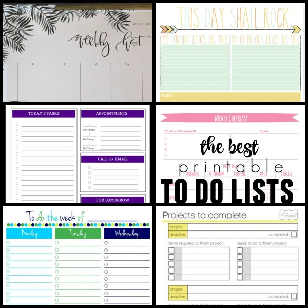 Best printable to do lists, free @Remodelaholic
