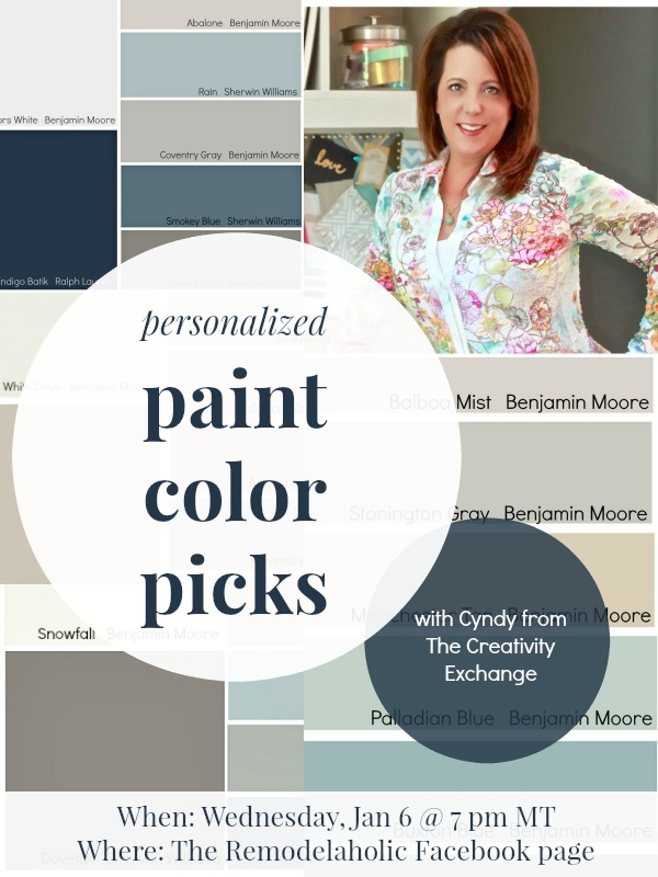 Cyndy personalized paint color picks FB chat