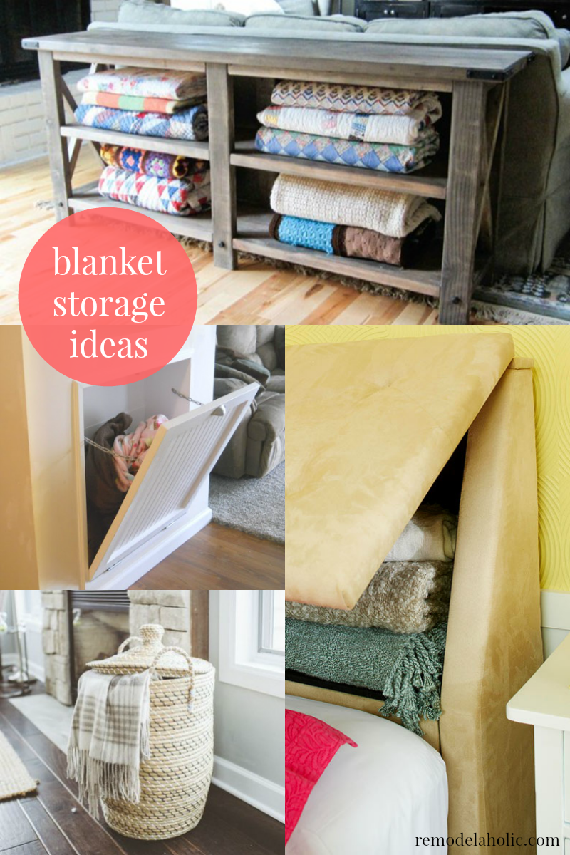 Remodelaholic | 5 Easy Ways to Store Blankets