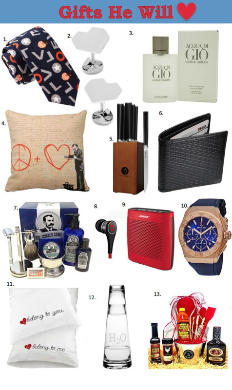 Valentine Gifts for Him... the guy who has everything or just buys whatever he wants! These creative ideas are sure to be winners