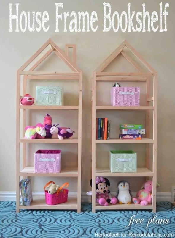House frame bookshelf FREE building plan