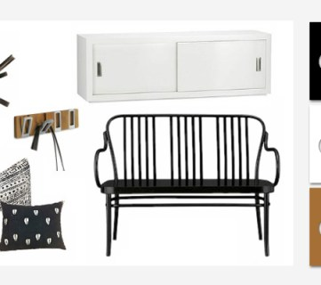 Monochrome Mudroom – Black and white entry inspiration