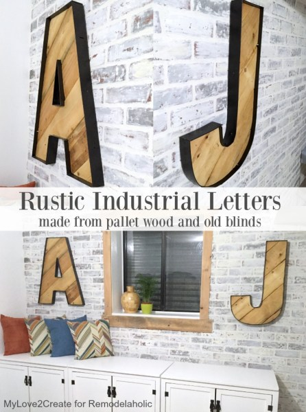 Rustic Industrial Letters pin image, MyLove2Create