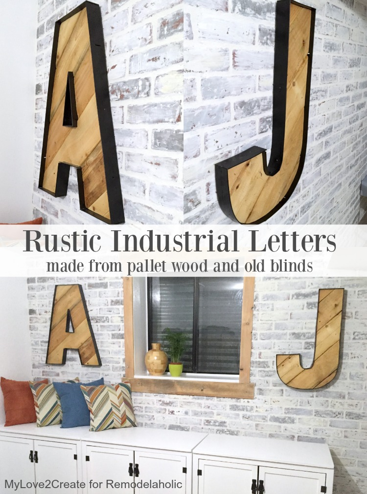 Remodelaholic Rustic Industrial Letters Made From Wood