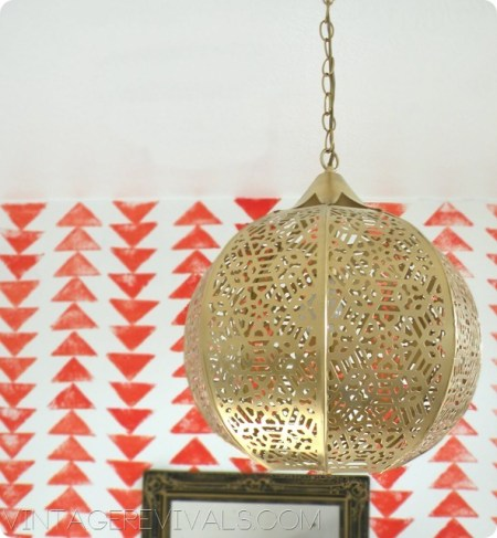 candle latern turned gold diy chandelier