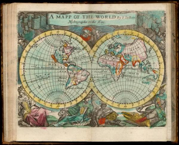 vintage map of the world NYPL