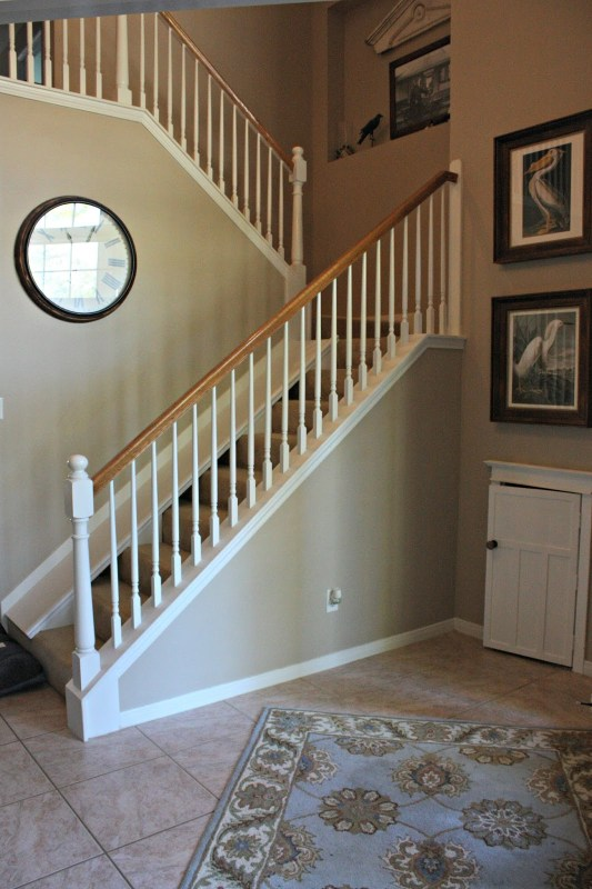 DIY indoor removable slide over existing stairs by Decor Allure featured on @Remodelaholic