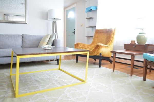 Oops! How to fix a leaning metal coffee table (or build it from scratch the RIGHT way)
