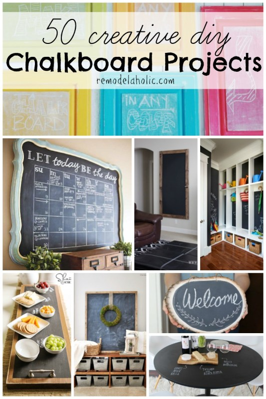 I've seen lots of chalkboards but I love these ideas! Creative and unique ways to bring DIY chalkboard projects into your home.
