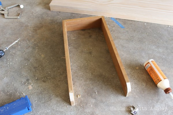 9 Step by Step tutorial for building a kid-sized bowling lane from scrap wood, Handmade by Ashley featured on @Remodelaholic