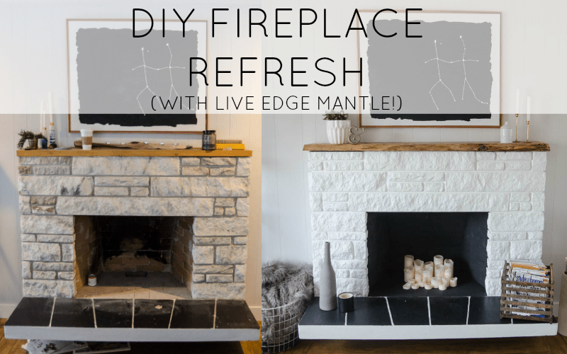 Updating a stone fireplace