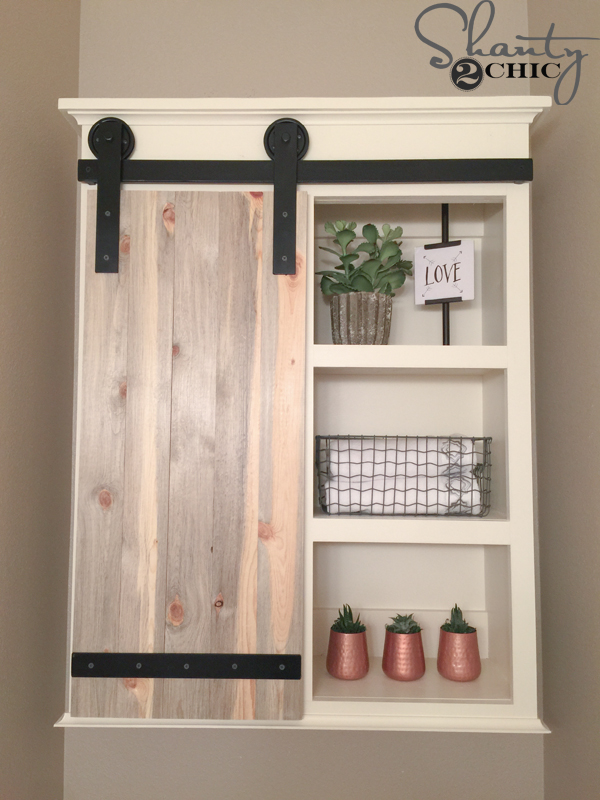 Barn door cabinet, great storage option