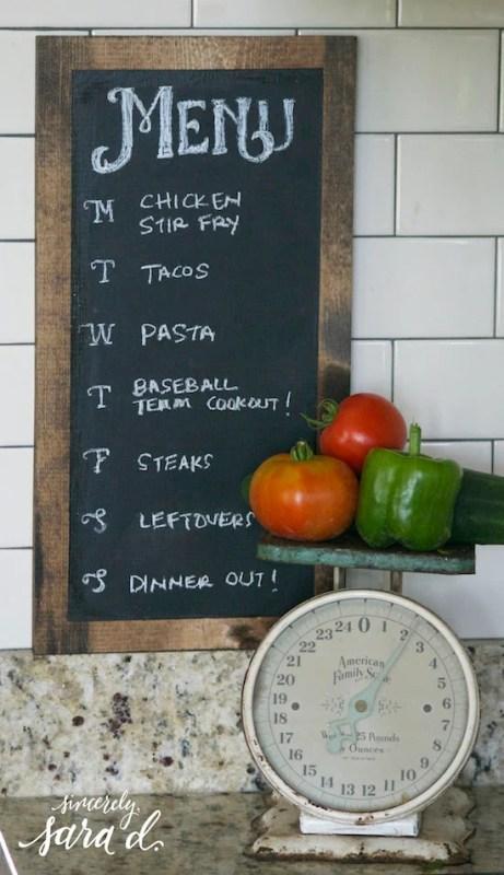 Chalkboard-Dinner-Planner