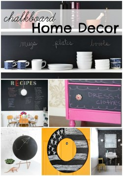 Chalkboard Home Decor at remodelaholic.com