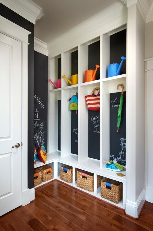 Chalkboard Mudroom Lockers